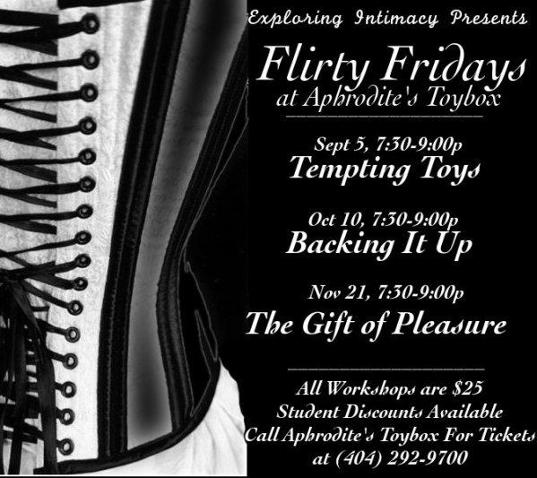 Flirty Fridays at Aphrodite\'s Toybox of Atlanta